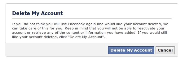 cum sa sterg contul de facebook