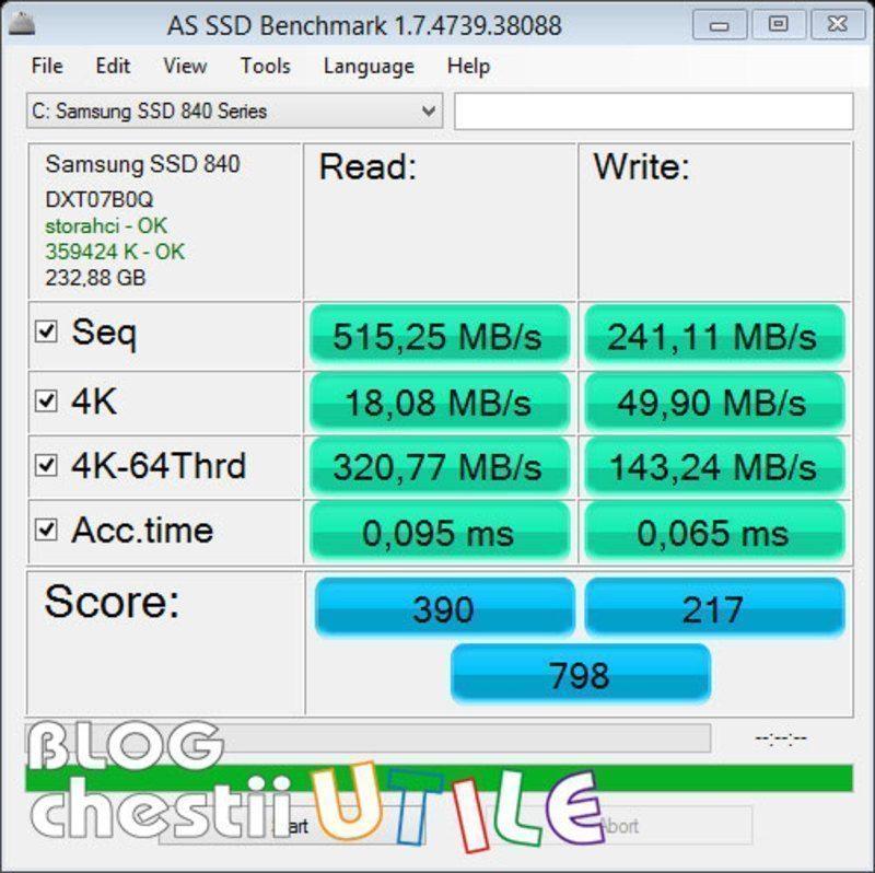 benchmark ssd samsung 840
