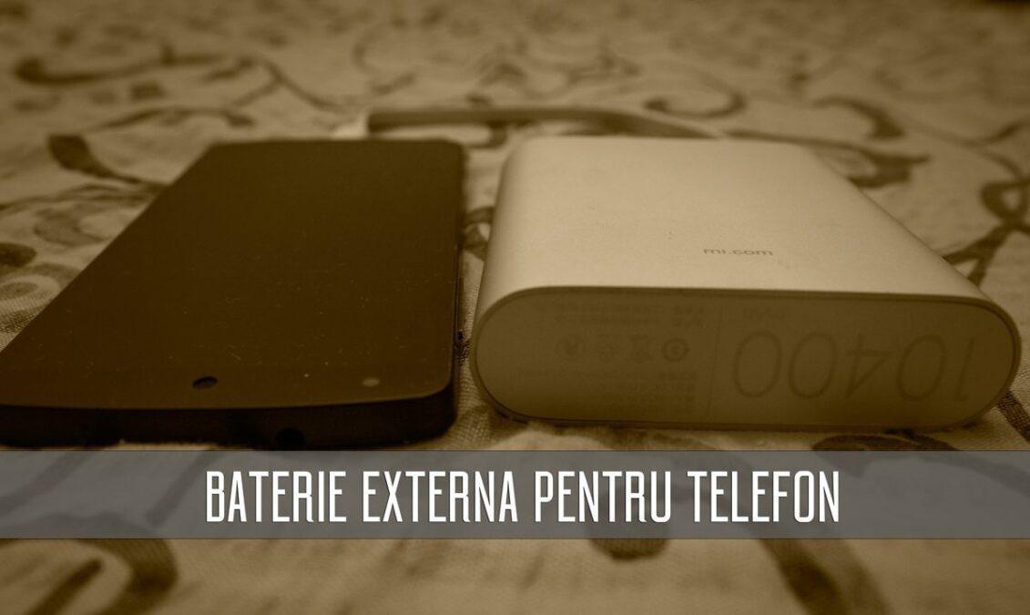 baterie externa pentru telefon