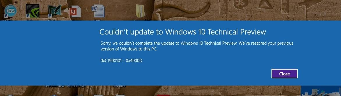 windows 10 update fail