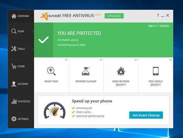 prezentare avast antivirus