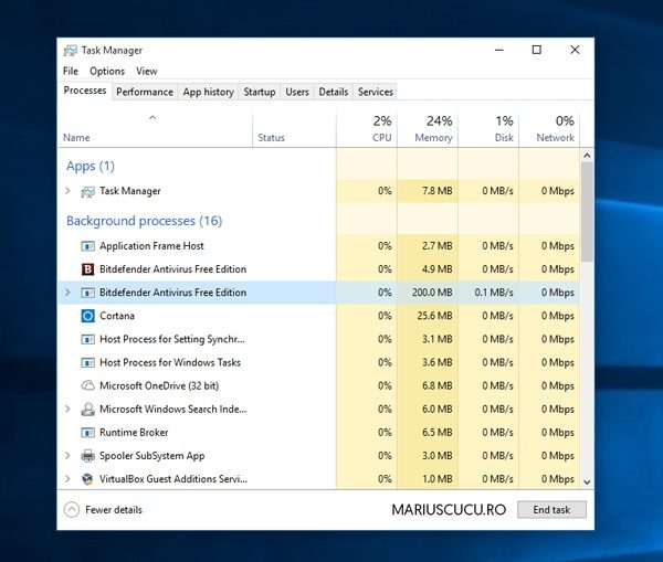 bitdefender stabil in windows 10