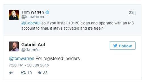 windows 10 gratuit insideri