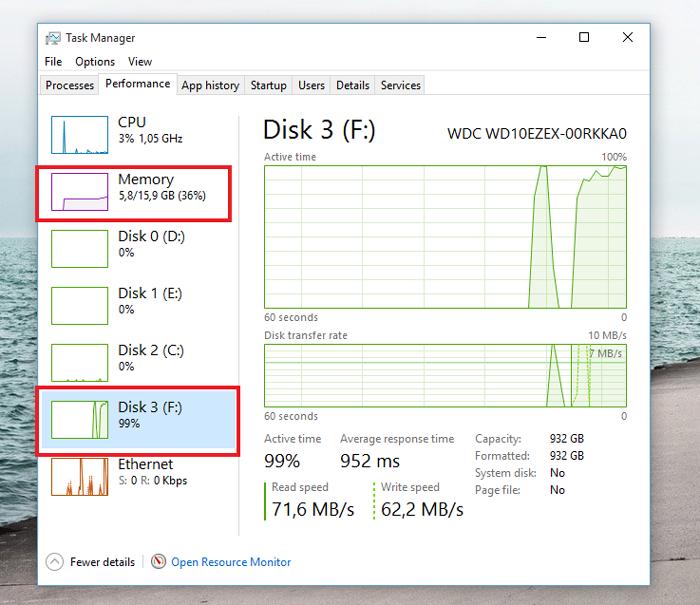 hard disk 100 %