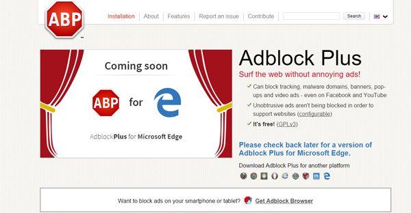 Adblock a venit pe Microsoft Edge