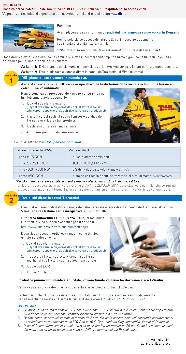 taxe DHL