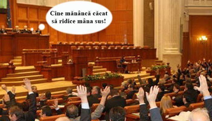 politicienii mananca cacat