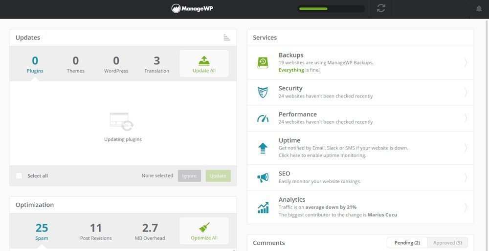 ManageWP – manager