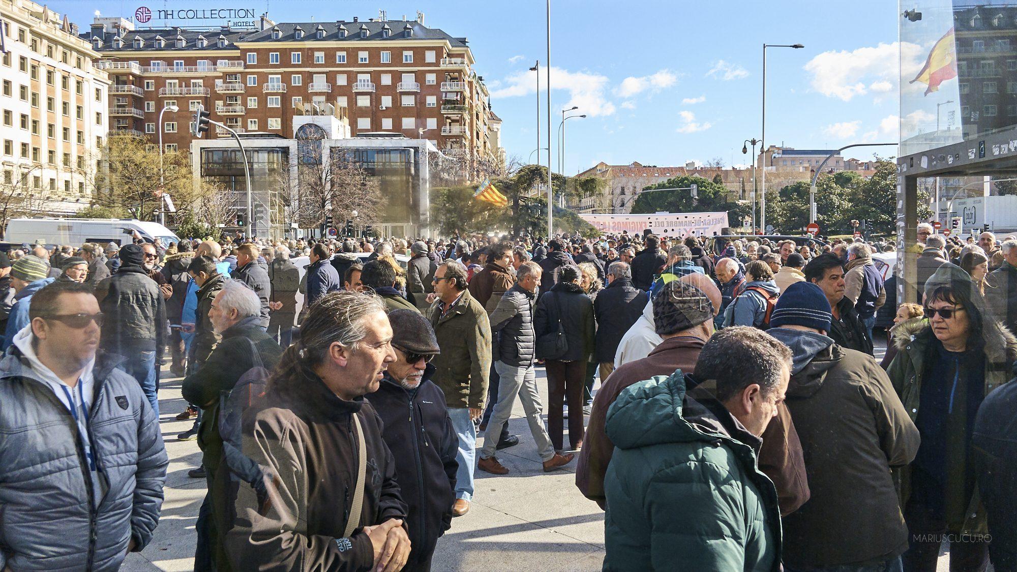 Protest Taximetristi: Proteste Taximetriști Madrid