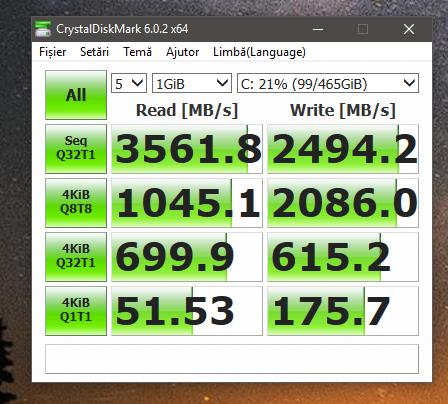 benchmark Samsung 970 EVO Criystaldisk