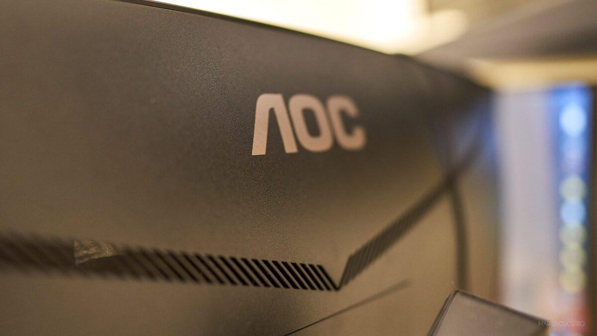 aoc logo monitor spate