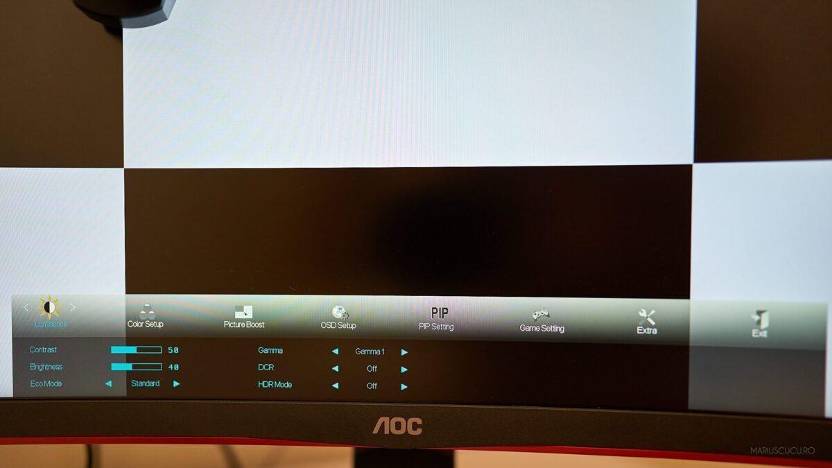 aoc meniu monitor