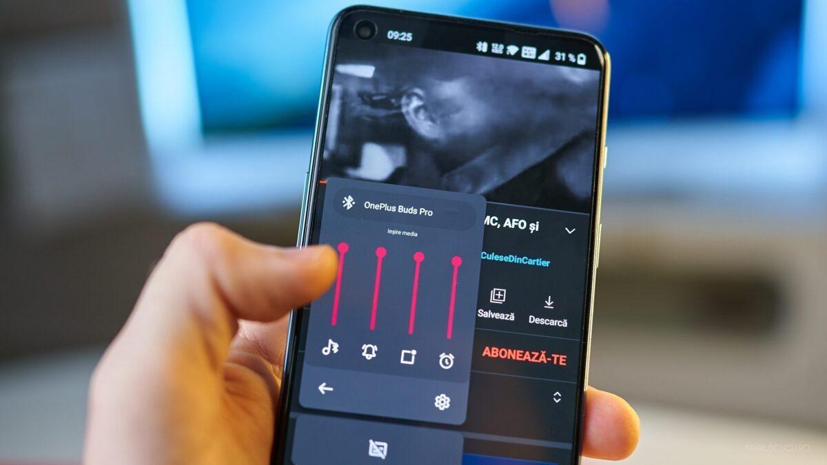 audio telefon oneplus setari