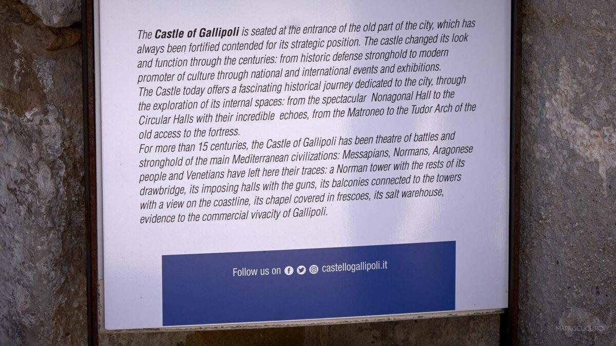istorie castel gallipoli