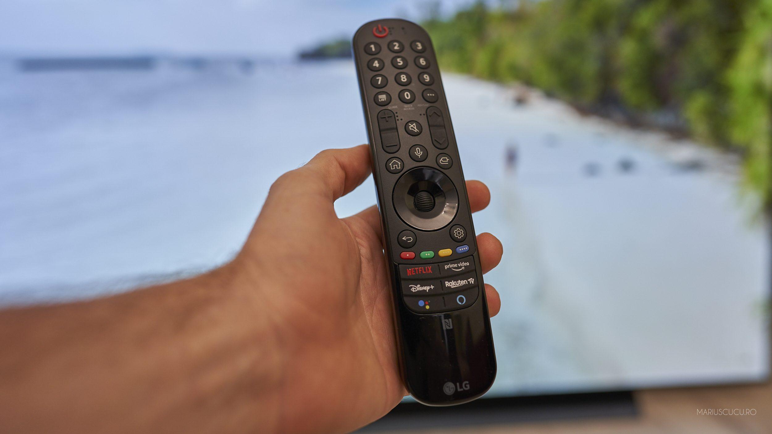 telecomanda LG OLED magic remote